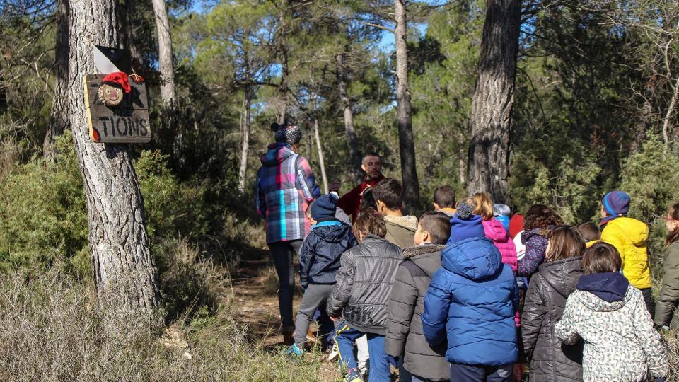 Visita de l'escola Taquígraf Garriga d'Esparreguera