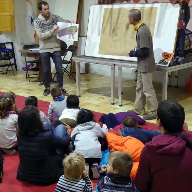 Presentació del conte 'Viatge al món dels tions' de Ton Lloret i Martí Garrancho