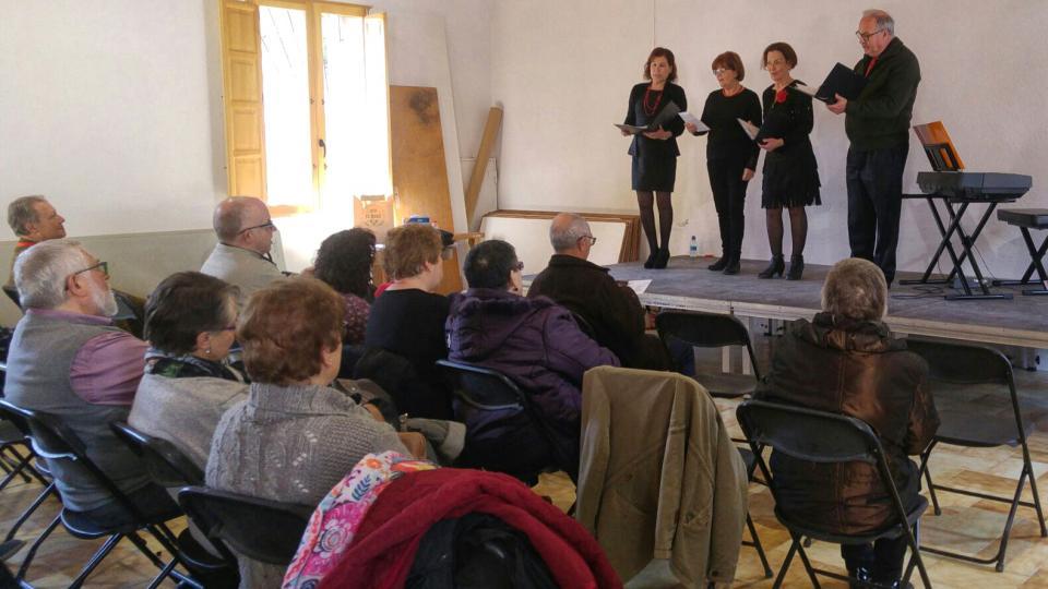 26.03.2017 Actuació del grup Pluja de Notes  Clariana -  Martí Garrancho