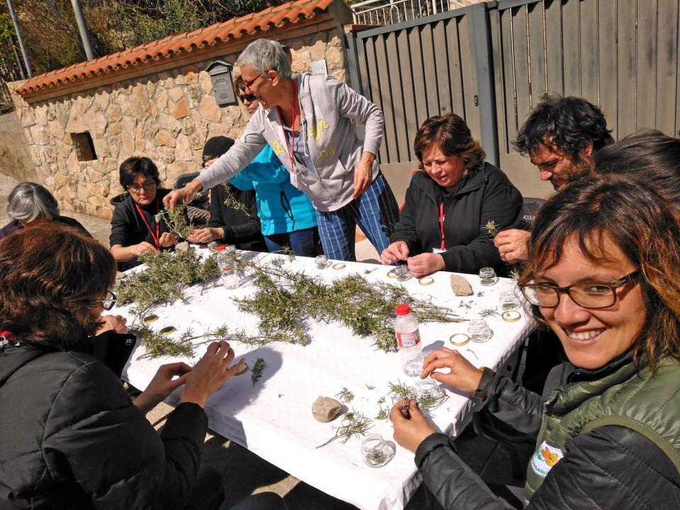 26.03.2017 Taller de 'Macerats de plantes medicinals contra el dolor' a càrrec d'Astrid van Ginkel  Clariana -  Rural Salut