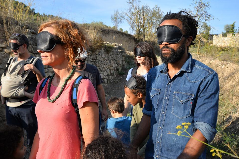 Experiència a peu   Taller de LandArt amb Jordi Mas